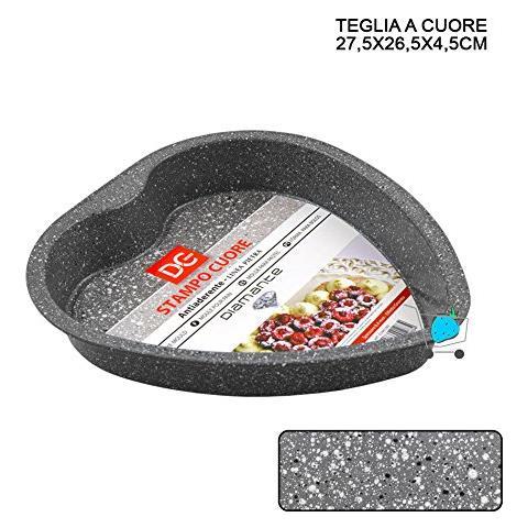Stampo Torta A Cuore Antiaderente In Alluminio Teglia Tortiera