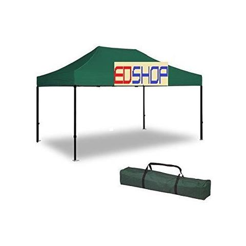Image of Gazebo 3x4.5 Verde E Professionale Impermeabile Gazebo Prof Richiudibile Verde