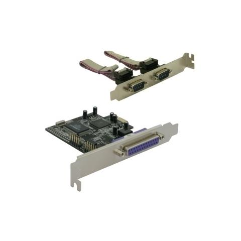 DeLOCK PCI Express card 2 x serial, 1x parallel, PCIe, Cablato, Windows 2000 / XP, 2003, 2 x DB9 RS-232 1 x DB25