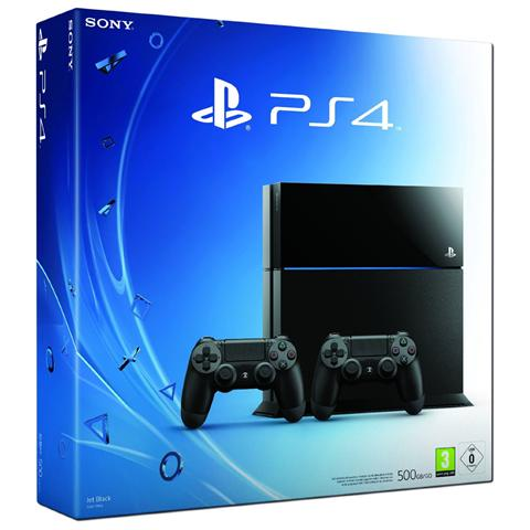 SONY Console Playstation 4 PS4 500 Gb Black + 2 Controller Dualshock 4