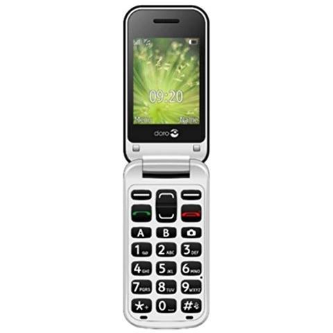 """Doro 2424 Senior Phone Display 2.4"""" +Slot MicroSD Bluetooth Fotocamera Tasti Grandi e SOS Colore Graphite Bianco-Europa"""