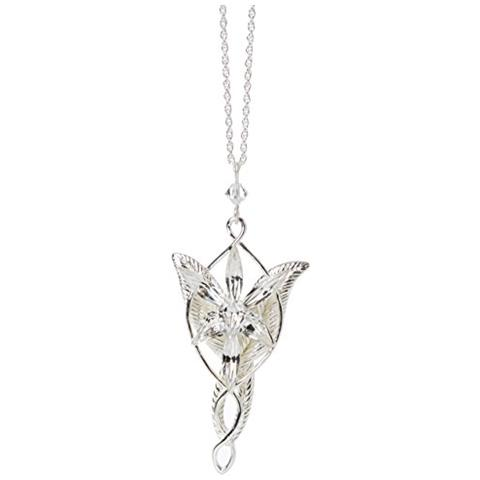 NOBLE COLLECTION Ciondolo Collana Lord Of The Rings Pendant Arwen Evenstar Pz Silver Plated