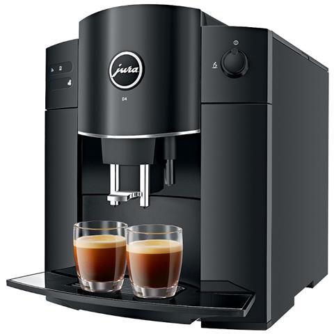 Macchina da Caffè Espresso Automatica D4 Piano Black Serbatoio 1.9 Lt. Potenza 1450 Watt C...