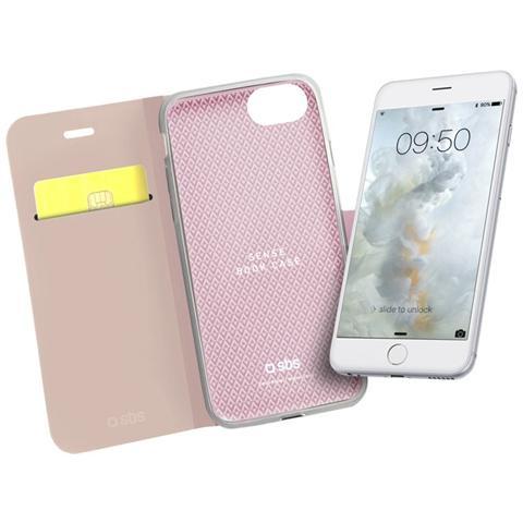 SBS Custodia Book Sense Per Iphone 7 Rosa