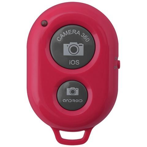 Network Shop Telecomando Bluetooth Ab Shutter 3 Selfie Autoscatti Iphone E Android Rosso