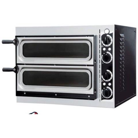 Forno pizza pizzeria elettrico camera doppia cm. 41x36x11h. (x2) - 3,2 Kw.
