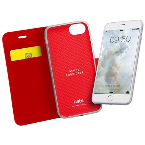 SBS Custodia Book Sense Per Iphone 7 Rossa