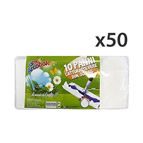 Arcobaleno Set 50 Panni Polvere 30x65 X 10 Pezzi Attrezzi Pulizie