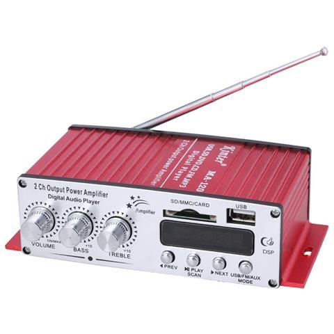 kinter Amplificatore Ma 120 2 Canali Mini Digital Lettore Audio Usb / Sd / Mp3