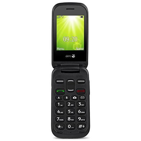 """Doro 2404 Dual Sim Display 2.4"""" +Slot MicroSD Bluetooth Fotocamera Tasti Grandi e SOS Colore Nero-Europa"""