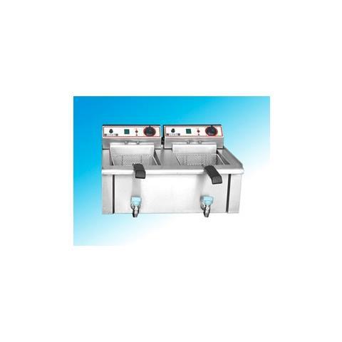Friggitrice Elettrica Professionale 7+7 Litri Cm 56x46x34 Rs1017