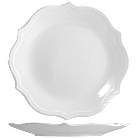 H&H Piatto Ceramica Adele Bianco Frutta Cm21 Tableware
