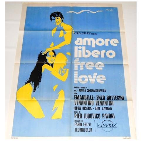 Vendilosubito Manifesto A2 Originale Del Film Amore Libero 1974