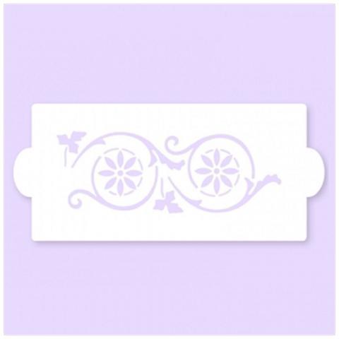 Stencil A Fascia Per Decorazioni Su Pasta Di Zucchero Mod 09 Pavoni