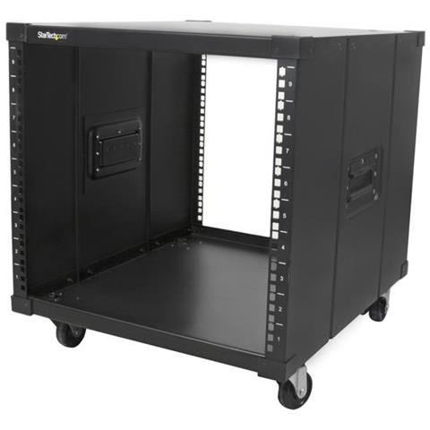 Image of Armadio portatile per server Rack con maniglie - 9U