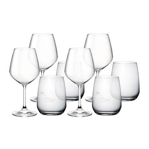 Restaurant-Set 8 Pezzi Calici Bicchieri