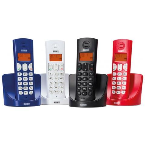 NILOX Telefono Cordless Dect Gap Display Lcd 14 Segmenti Retroilluminato Falco Blu