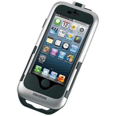 CELLULAR LINE Cellularline SMIPHONE5SILVER Motocicletta Passive holder Nero, Argento supporto per personal communication