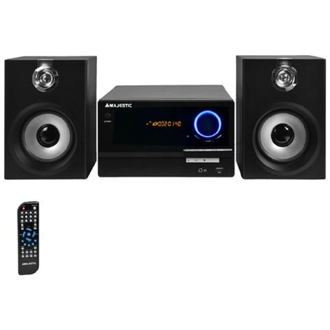 MAJESTIC Sistema Micro Hi-Fi AH-2347 BT MP3 50Hz USB / RCA Nero