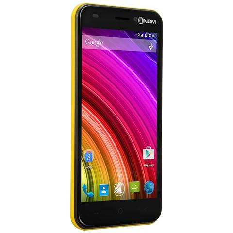 You Color M502 Giallo Dual Sim Display 5'' HD Storage 8GB +Slot MicroSD WiFi 4G / LTE Fotocamera 8Mpx Android - Italia