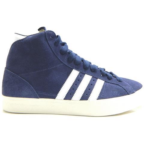 adidas Originals Basket Profi Scarpe Da Ginnastica Mid Camoscio Blu - Eu 44 Us 10 Uk