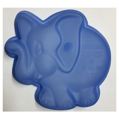 Stampo In Silicone Forma Elefante, Multicolor, 15x14x4