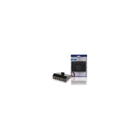 HQ Switch Audio Analogico 3x (2x RCA Femmina) - 2x RCA Femmina Nero