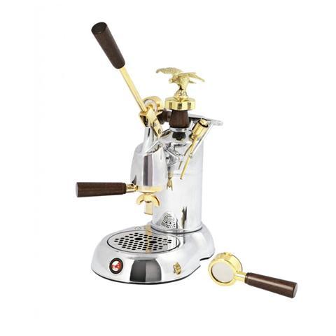 Macchina da Caffè Manuale a Leva Expo 2015 230 Volt Cromata / Placcato