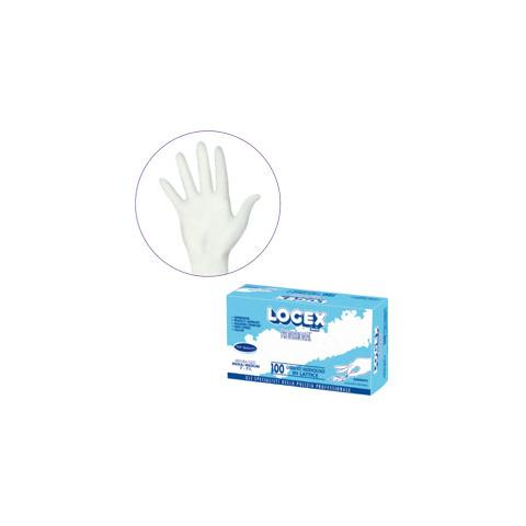 LOGEX PROFESSIONAL scatola 100 guanti logex m. grande in lattice monouso