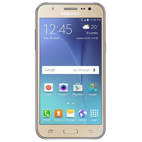 "SAMSUNG Galaxy J5 Oro 8 GB 4G / LTE Display 5"" HD Slot Micro SD Fotocamera 13 Mpx Android Europa"
