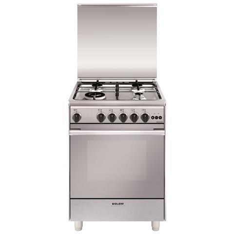Glem gas cucina a gas u664vi 4 fuochi dimensione 60 x 60 cm colore inox eprice - Eprice cucine a gas ...