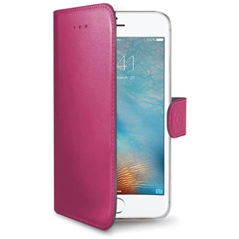CELLY Flip Cover Custodia Wally per iPhone 7 - Rosa