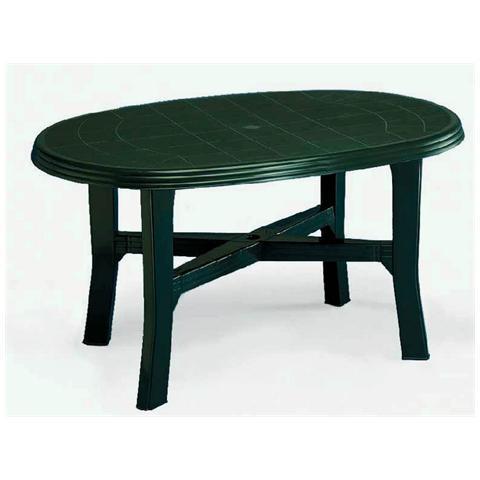 Tavolo da Giardino Ovale Verde - Modello Tamigi