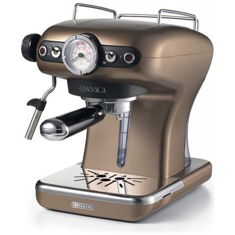 Macchina da Caffè Espresso Classica 1389 Serbatoio 0.9 Lt. Potenza 850 Watt Colore Bronzo