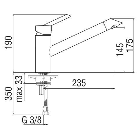 Nobili Miscelatore Lavello Cucina Oz T2 Oz113/1ip Acciaio Inox - Inox