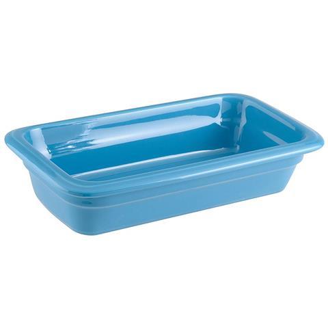 Bacinella Gn 1/3 Cm 17x32x6,5 Porcellana Azzurro