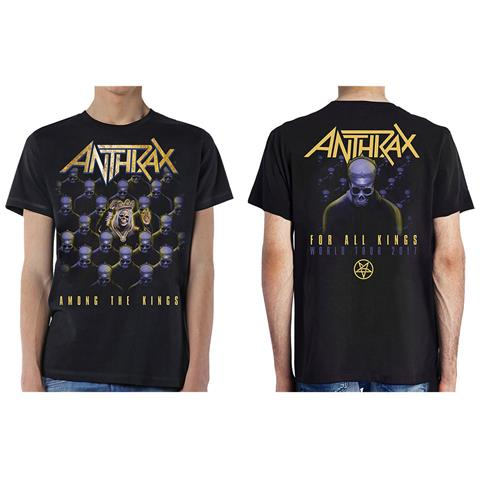 ROCK OFF Anthrax - Among The Kings (With Back Print) (T-Shirt Unisex Tg. S)