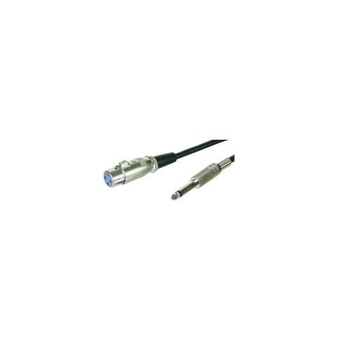 EMACHINE ICOC XLR-M-BL - Cavo XLR Cannon femmina a Jack 6.35 maschio 6 mt. Mono blu