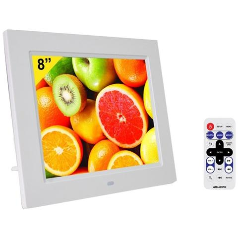 Cornice Digitale DF938MP3APWH Display 8'' Risoluzione 800x600 Ingresso USB Slot SD colore...