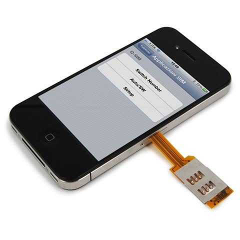 VAVELIERO Custodia Dual SIM Nera per iPhone 4 e 4S