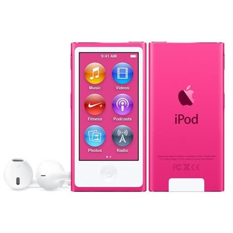 "APPLE iPod Nano 16 GB Display Touch 2.5"" Sintonizzatore FM Bluetooth 4.0 Nike+ Colore Rosa"