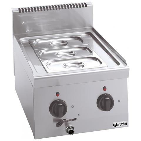 131760 Bagnomaria elettrico professionale rubinetto scarico 2xGN1/4