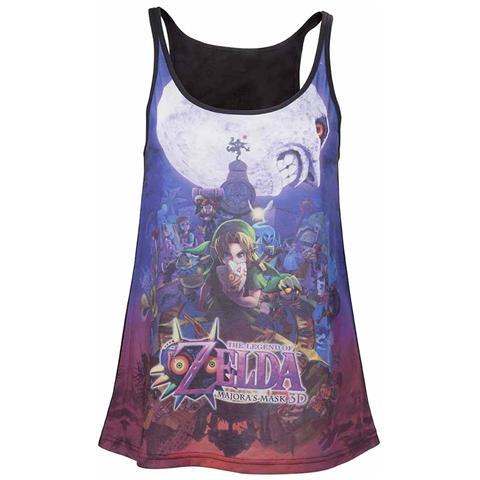 BIOWORLD Nintendo - Zelda Majora's Mask Ladies Tank Top (Top Donna Tg. L)