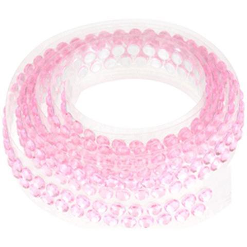 Modecor Italiana Nastrino Con Strass Adesivo Rosa Per Torte Decorate 90 Cm