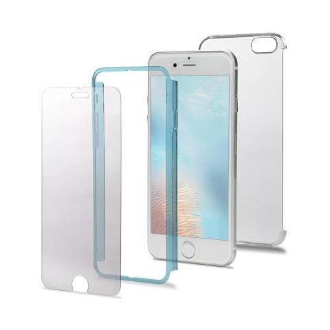 CELLY Custodia TotalBody360 per iPhone 7 Plus - Trasparente / Azzurro