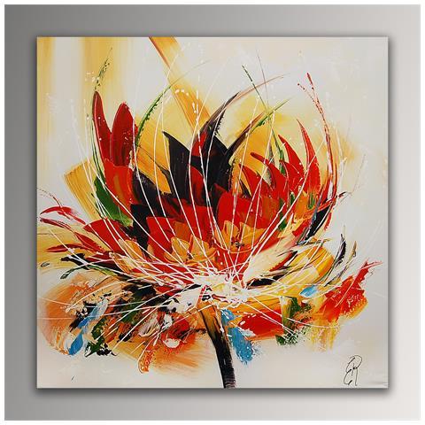 Arte dal Mondo - Fiore Astratto Quadro Floreale Moderno Dipinto A ...