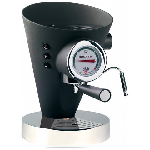 Macchina Caffé Espresso Manuale Diva Capacità Serbatoio 0,8 Litri Potenza 950 Watt Colore Nero