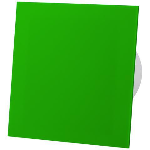 Pannello Frontale In Vetro Acrilico Verde Ventilatore Estrattore Standard Da 100 Mm Per Ve...