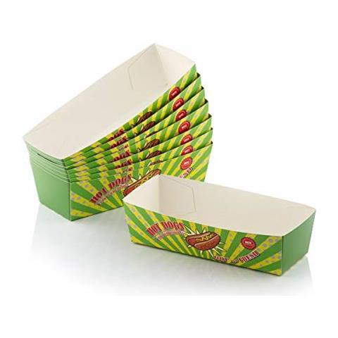 Set Di Scatole Per Hot Dog Bbq Classics (pacco Da 8) V0201251