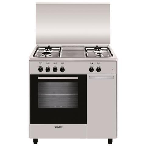 Cucina Elettrica AS854EI 4 Fuochi Gas Forno Elettrico Classe A Dimensioni 80x50 Colore Ino...